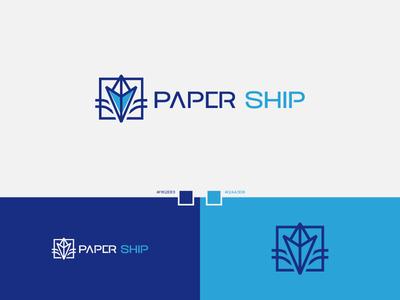 Paper Ship best designer logo design design cool design best shots branding cool colors good design creativity clean design