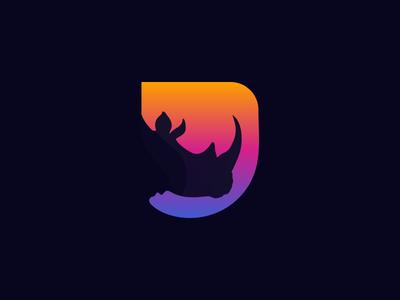 Rhino Mark full color cool colors design mark best shots cool logo cool design rhino animal good design creativity clean design