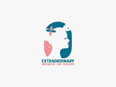 Extraordinary Women on Board best designer logo design design cool design branding best shots cool colors good design creativity clean design
