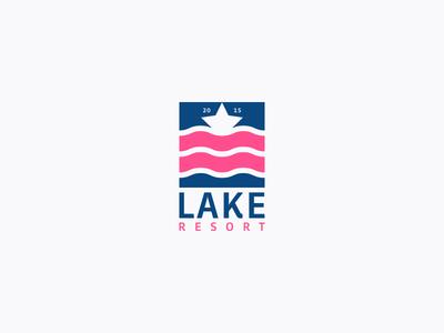 Lake Resort best designer logo design design cool design branding best shots cool colors good design creativity clean design