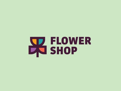 Flower Shop full color cool logo best designer logo design cool design best shots good design creativity cool colors clean design