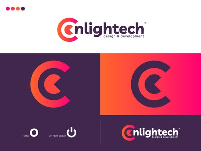 Onlightech cool logo best designer logo design design cool design branding best shots cool colors good design clean design