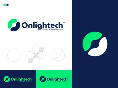 Onlightech cool logo best designer logo design design cool design branding best shots creativity cool colors clean design