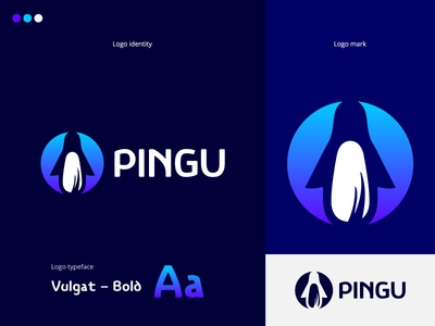 Pingu cool logo logo design design cool design branding best shots good design creativity cool colors clean design