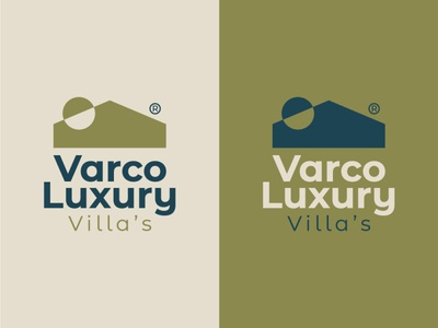 Varco Luxury Villa's best designer logo design design cool design branding best shots good design creativity cool colors clean design
