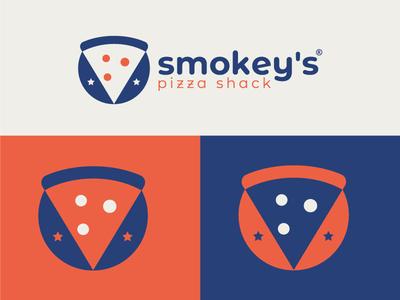 Smokey's Pizza Shack best designer logo design design cool design branding best shots good design creativity cool colors clean design