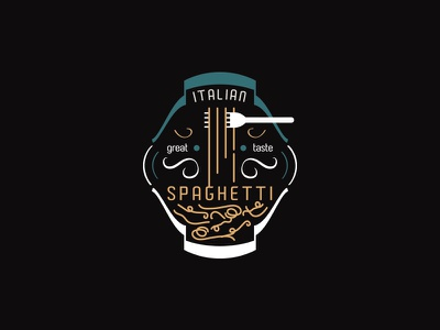 Italian Spaghetti italian restaurant inspiration good design cool logo great logo creation italian food pasta logo design