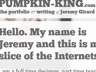 Hello website slab-serif