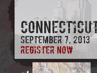 Register Now website distressed zombies