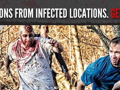 Infected Locations website distressed zombies