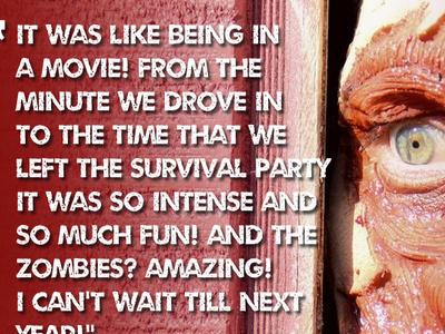 Zombie Peek website zombies distressed