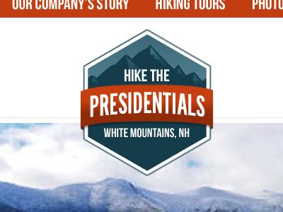 Hike The Presidentials logo illustration website new hampshire
