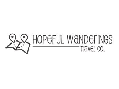Hopeful Logo fun icon travel logo