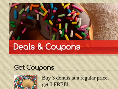 Coupons website donuts