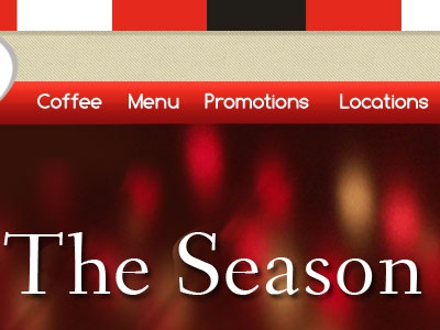 The Season website navigation billboard