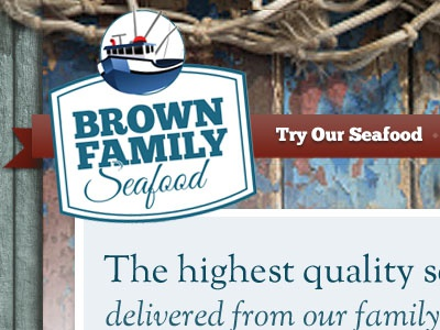 Try Our Seafood website texture slab serif