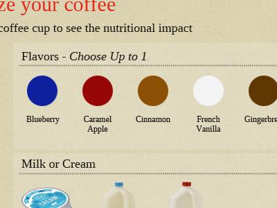 Flavors website coffee