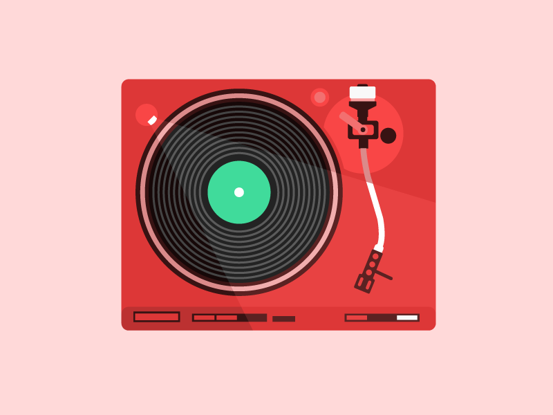 Record Player turn table illustration record player 33rpm record icon
