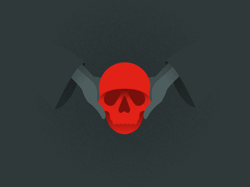 Skull illustration cult skull and bones skull