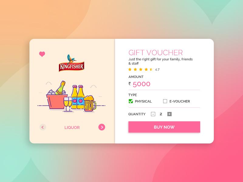 UI #3: Gift Card Illustration Free Giveaway website web ui store shopping liquor illustration gift e-commerce design card