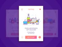UI #5: Gift Card Illustration Free Giveaway
