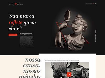 Empória Branding - Singe page - Branding Agency header design single page ui web deisgn