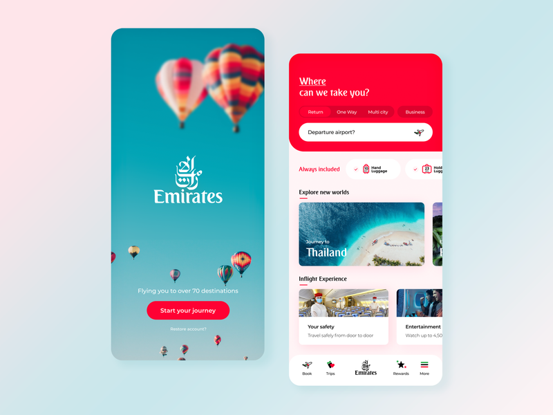Emirates App Redesign product design booking app travel travel app ux trends ux  ui uxui uae dubai emirates app design ux designer ui design adobe xd ux design uxdesign user interface design user interface ux ui