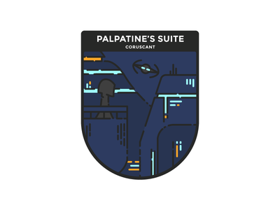 Star Wars : Coruscant star wars first shot night illustration minimalist badge coruscant