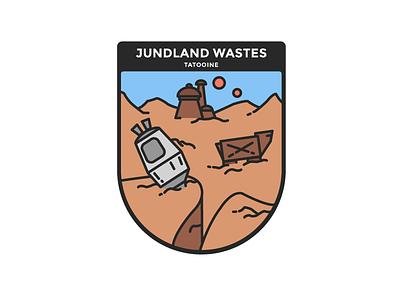 Star Wars : Tatooine star wars battlefront minimalist illustration tatooine badge