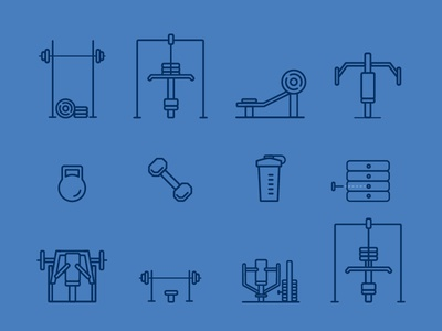 Gym Equipment Icons