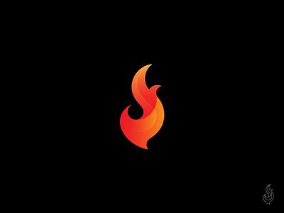 f+s+flame logo firestarter fire s f monogram gradient flame