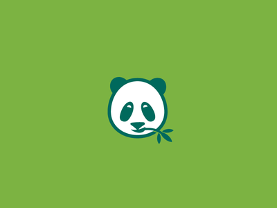 food steamer concept: panda+bamboo steaming food steamer bamboo eating healthy panda modern simple logo design