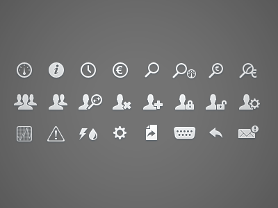 Icons for Energy Management Application icon icons users dashboard arrow gear graph rs232 energy management automation