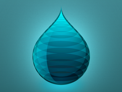 A drop drop icon logo app