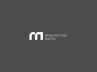 Matos Arquitectos Logo arc module monogram blocks minimal geometric identity logo architects