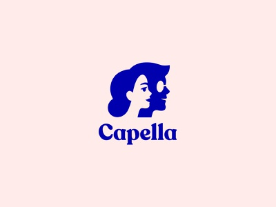 Capella training startup education tech man tech woman faces people logo logo design logotype logo branding concept branding