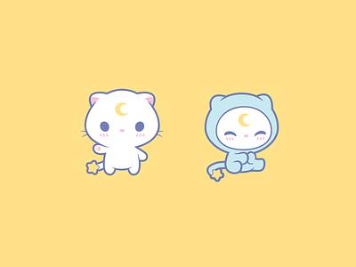 Toki Hatsu kitten branding design cat mascot illustration cute logotype character logo
