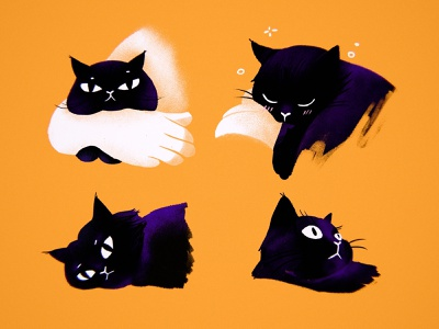 Charlie cat character cute illustration