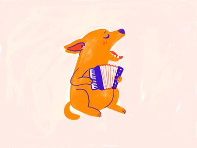 Manya ecobag dog mascot illustration cute character