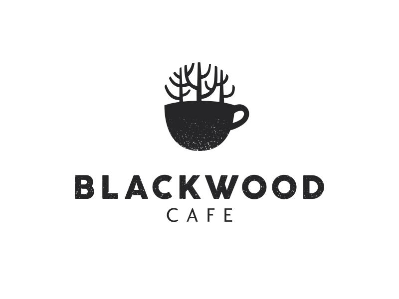 Blackwood cafe cup coffee tree forest woods blackwood logo