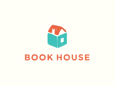Book House publisher shelter home literature icon mark logotype logo house book