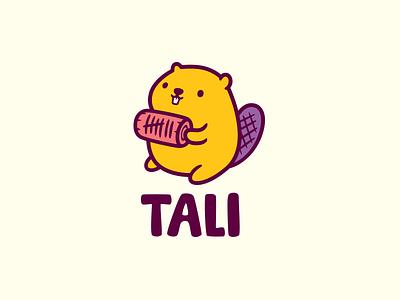 Tali color beaver tally mascot character logotype logo