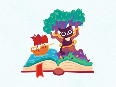Fairy Tales russian folk book fairy tales cat ship ocean holiday new year tree christmas moscow