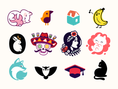 Logo Marks beauty animal bird character mascot symbols mark logotype sale logo shop