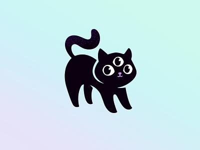 Mystic Cat mascot magic icon cat mystic character illustration cute logotype logo
