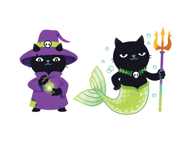 Aiwanju Stickers zelda luffy naruto unicor pirate wizard mermaid character mascot cat illustration stickers