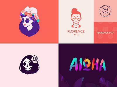 My top 4 of 2018 design cat illustration cute character logotype logo top4shots