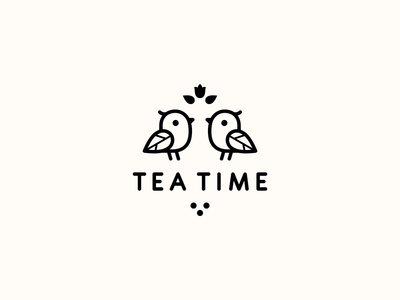 Tea Time identity branding bird illustration bird logo brand branding tea bird icon cute logotype logo