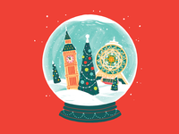 Christmas Card christmas tree snowball turkmenistan alem bigben ashgabat london new year christmas card christmas illustration