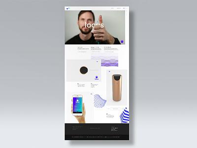 Locus Website landing page minimal product design interaction design ui-ux web design